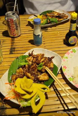 Bläckfisk Garlic and pepper