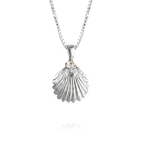 Shell Necklace / Crystal Rhodium