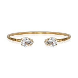 Petite Drop Bracelet / Crystal Gold