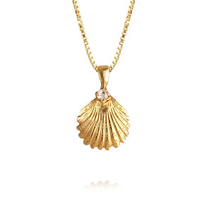 Shell Necklace / Crystal Gold