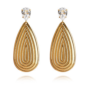 Pelagia Earrings / Crystal Gold