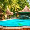 Resort pool on the island of Boracay, Philippines