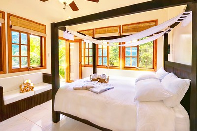 Pretty resort bedroom.