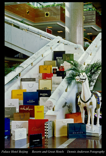 Palace Hotel Lobby Shops Bejing, China,  Resorts and Great Hotels
