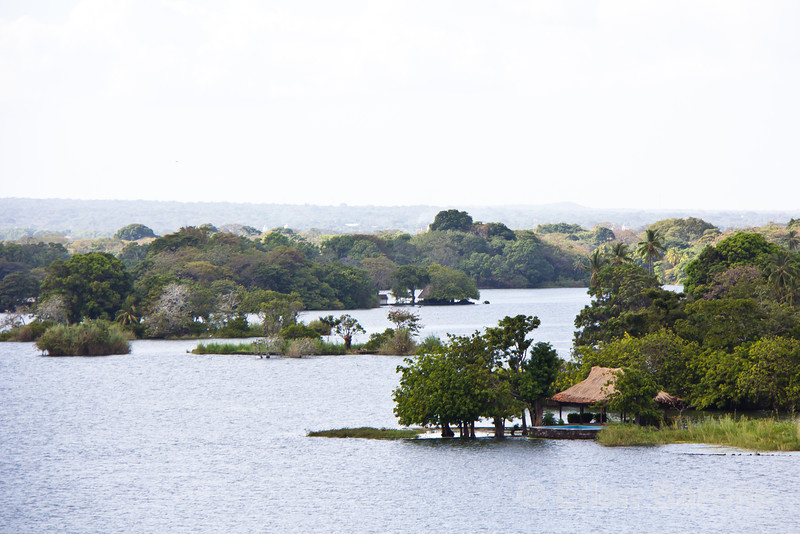 Las Isletas as viewed from Jicaro Island Ecolodge, Lake Nicaragua.