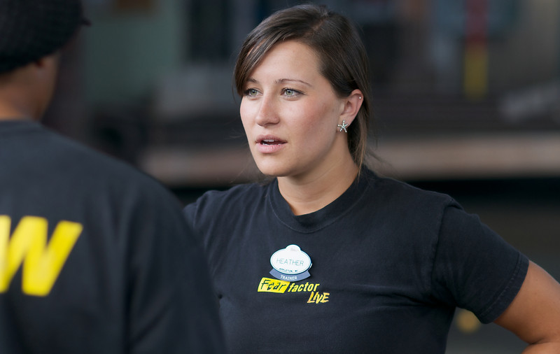 Heather, Fear factor Live Trainer Universal Studios Florida