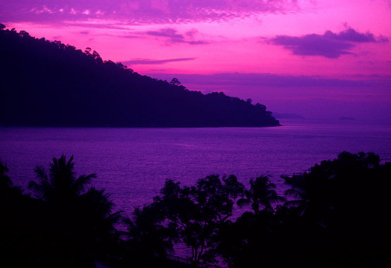 Sunrises and sunsets are invariably spectacular on Pangkor Laut, a private island escape situated in the Straits of Malacca (Selat Malaka), off the coast of northwestern Malaysia, Asia.