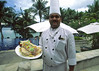 A friendly resort chef at Pangkor Laut, an exclusive private island resort situated in the Straits of Malacca (Selat Malaka) off the northwest coast of Malaysia, Asia.