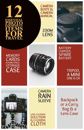 12 Essential Photo Equipment Items for Travel