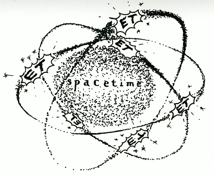 "spacETime 4. Ink on paper, 5"" x 7"", 2005."