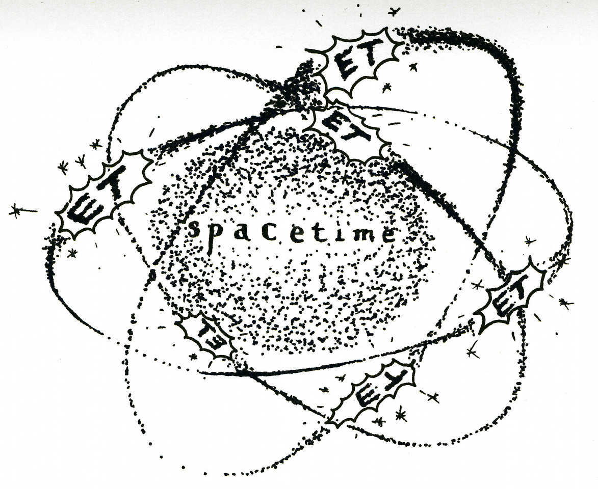 "spacETime 4. Ink on paper, 5"" x 7"", 2005."