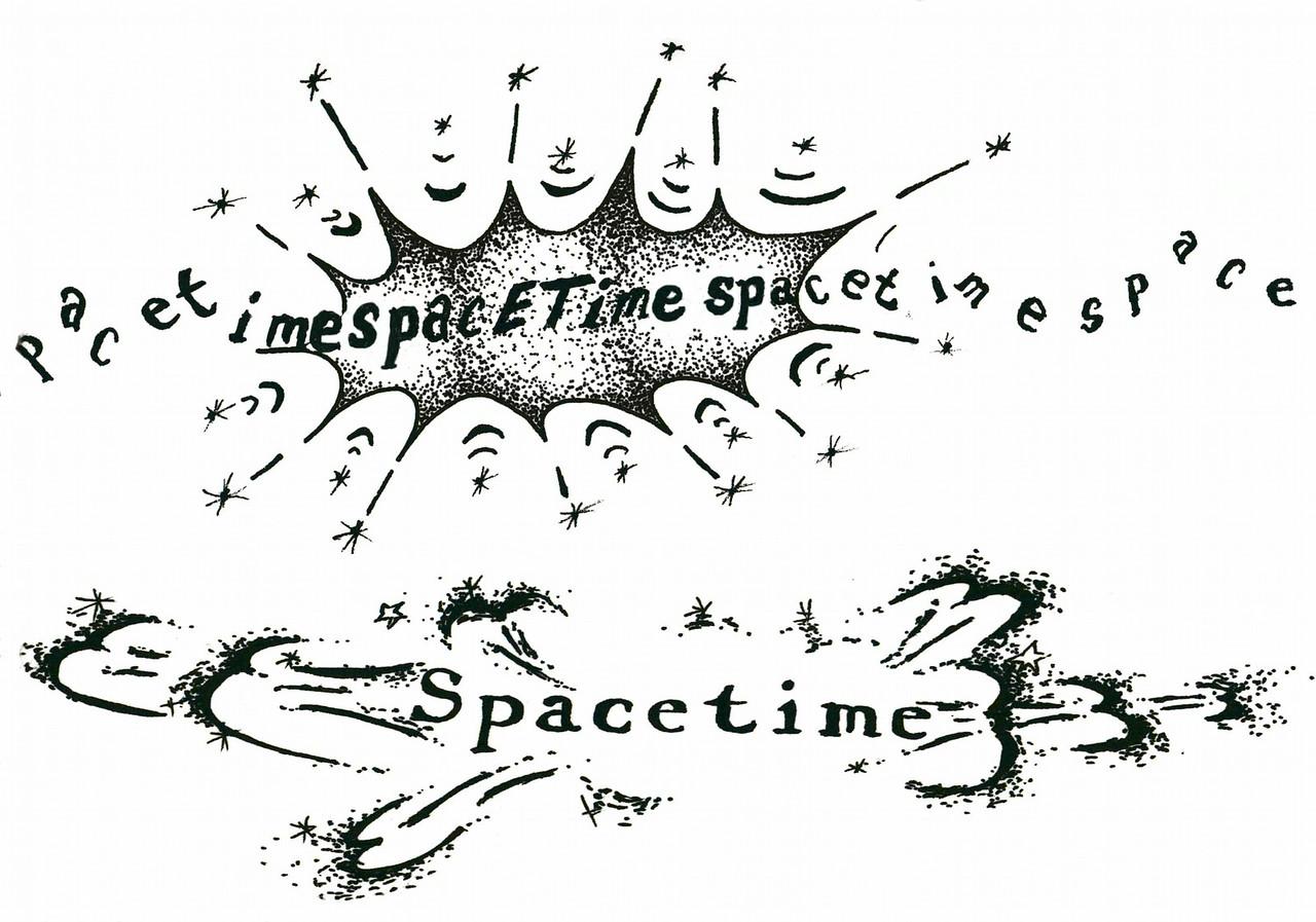"spacETime 5. Ink on paper, 5"" x 7"", 2005."