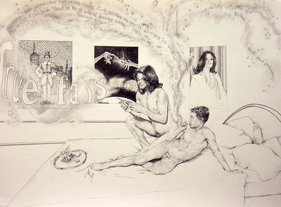 "Pencil on paper, 16"" x 20"", 2005."