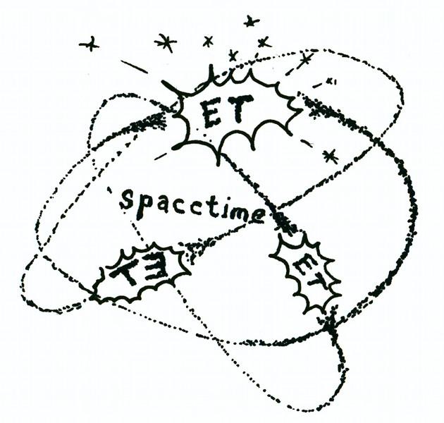 "spacETime 3. Ink on paper, 5"" x 5"", 2005."