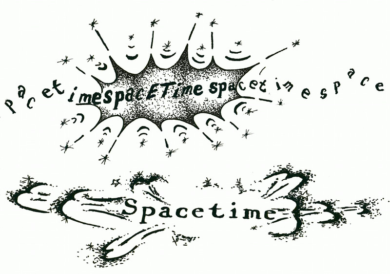 "spacETime 5. Ink on paper, 5"" x 7"", 2005."