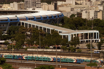 A view of the Maracana stadium, site of the opening ceremony of the Pan-Am Games in July 2007. Soccer will also be played in the stadium, built for the 1950 World Cup and updated this year.(AustralFoto/Douglas Engle)