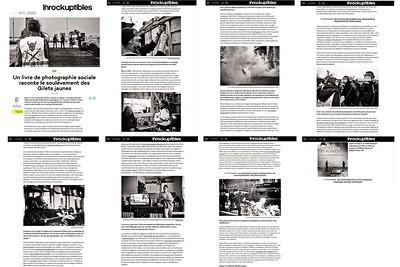 Les Inrockuptibles, décembre 2019. https://www.lesinrocks.com/2019/12/11/idees/idees/un-livre-de-photographie-sociale-raconte-le-soulevement-des-gilets-jaunes/