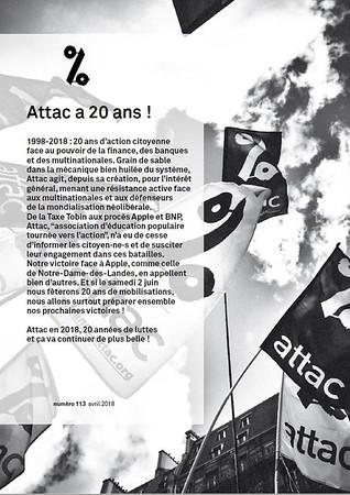 Lignes d'Attac, n°113, mai 2018.
