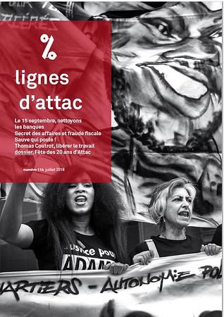 Lignes d'Attac, n°114, juillet 2018.