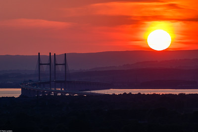 Sunset Over the Second Severn Crossing