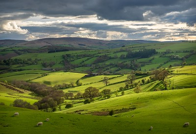 Teme Valley and Welsh Borders from Offa's Dyke