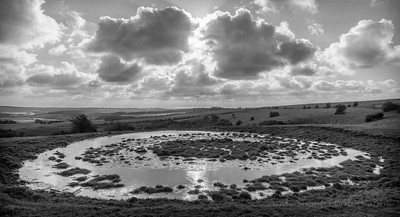 Dew Pond, Ditchling Beacon, South Downs