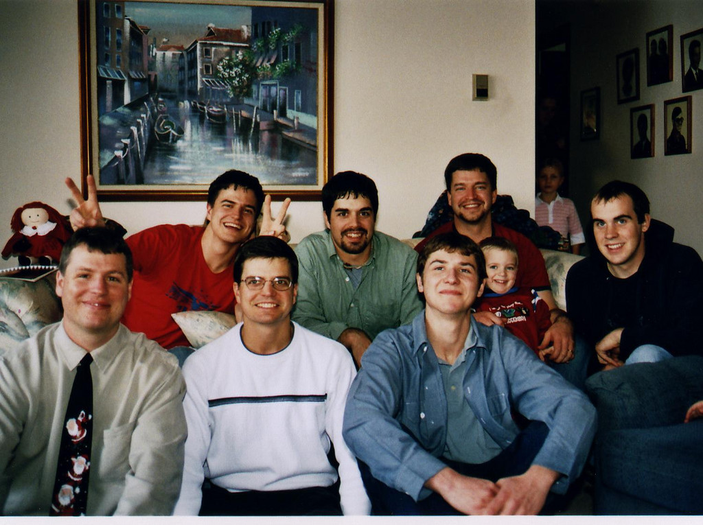 back-Charles, Adam, Paul (and son T)
