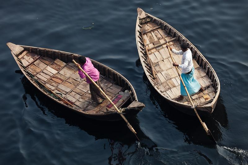 Boats on the Buriganga, Dhaka, Bangladesh