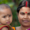 Hindu mother with Baby, Bikrampur, Bangladesh