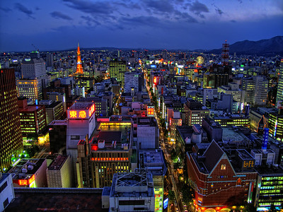 Sapporo at night