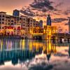 Dubai Mall Area at Sunset, Dubai, UAE