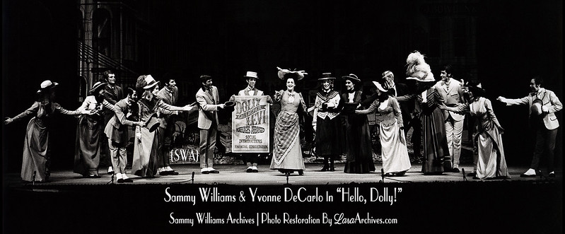"Sammy Williams & Yvonne DeCarlo In ""Hello, Dolly!"" { LaraArchives.com® }"