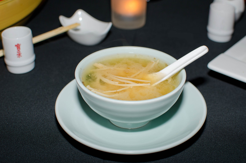 The Miso soup is excellent.