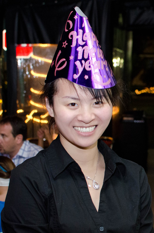 Our server Tina is ready for the New Year.