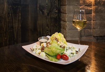 Wedge Salad and Chardonnay!