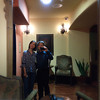 Shalimar and me on the second floor of the Los Gatos Hotel.