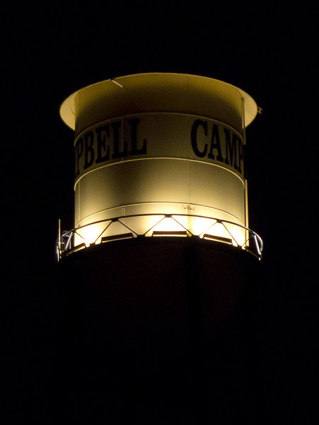 Campbell water tower.