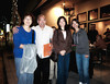 The Arculli family outside of Naschmarkt Restaurant in downtown Campbell. Cyrus sneaked into the photo on his tippy-toes!