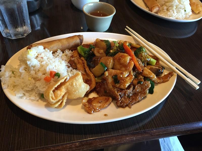 Mandarin Trio (chicken, pork and shrimp)