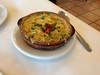 Vieiras Gratinadas - sautéed sea scallops in vegetable béchamel topped w/bread crumbs and Manchego cheese.