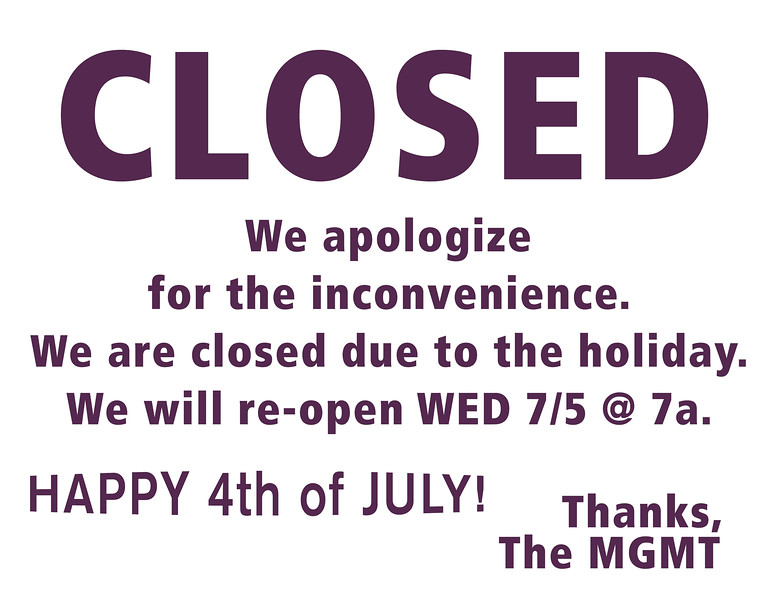closed-july-4-2017