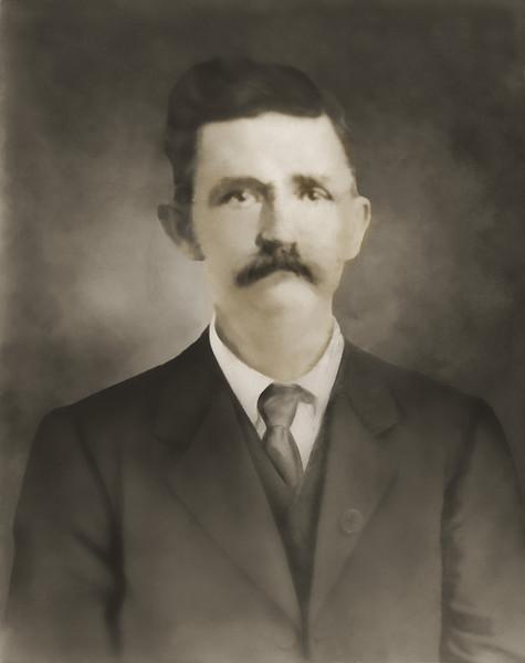 Portrait of man in Missouri - after restoration.