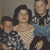 Mother and boys - Before.<br /> This 1950s photograph just needed the original color restored.
