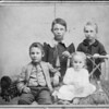 Turner kids, Kansas 1895, before restoration.