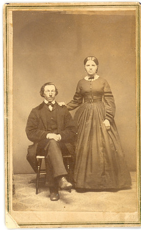 High-resolution Scan of 1862 Wedding Portrait