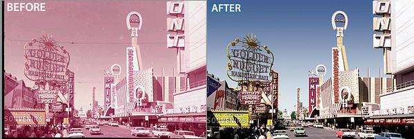 Freemont St, Las Vegas Restoration example