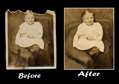 MAJOR REPAIR Repair major discoloration or fading Reconstruct missing pieces  Repair major damaged edges  Repair creases and torn photos  Repair, manipulate or add background  Repair major stains  Reconstruct facial damage  Priced from $79.95