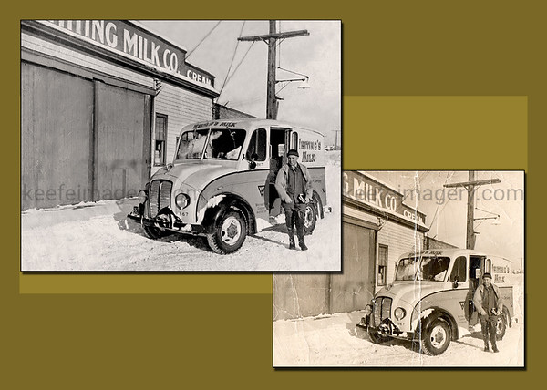 I enjoyed doing this... memories of the old milk trucks that used to deliver when I was a kid.