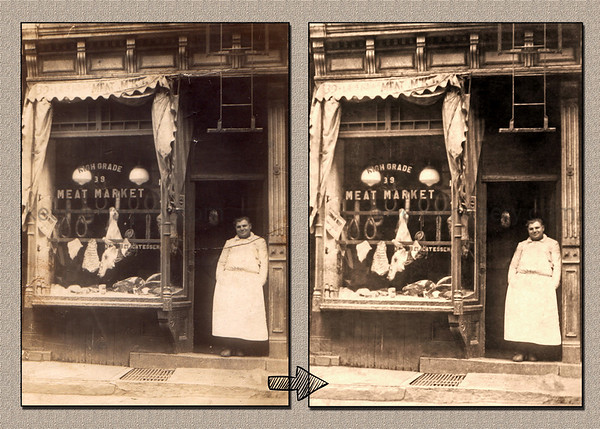 Early 1900's, New York City Meat Market