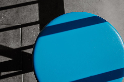 Shadows and Blue Stool